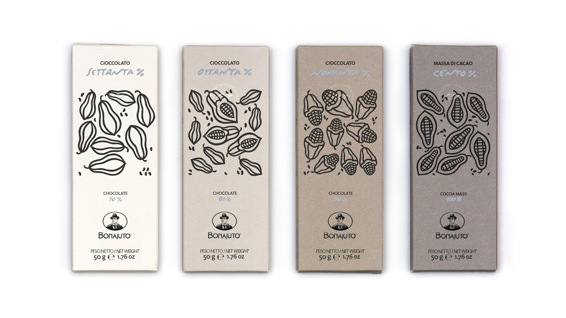 Confezioni cioccolato di Modica in percentuale 70, 80, 90, 100 percento